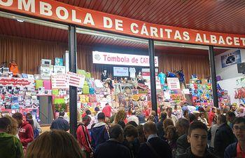 Tómbola de Cáritas.
