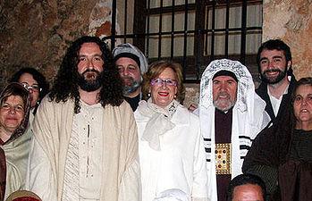 """Herrero, asistió a la representación de """"La Pasión de Jesucristo"""