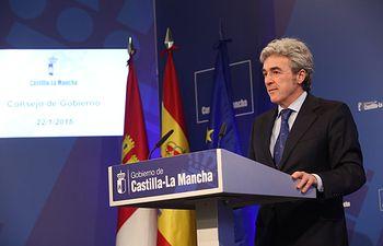 Leandro Esteban. Rueda de prensa Consejo de Gobierno_22-01-15 III. Foto: JCCM.