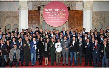 El presidente de la Diputación asiste a la presentación de la II Cumbre Internacional del Vino, que se celebrará del 12 al 14 de marzo