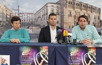 Presentación del Campeonato de España de Gimnasia Rítmica de Conjuntos y Copa de la Reina; Maite Nadal, Jesús Carballo, presidente de la Real  Federación Española de Gimnasia