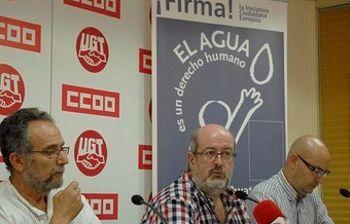 Pedro Arrojo, Enrique Fossoul y Llorenç Serrano
