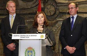 La vicepresidenta del Gobierno inaugura en el hospital Gómez Ulla la unidad de aislamiento de alto nivel. (Foto archivo)