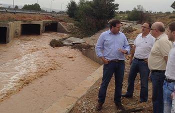 Desbordamiento del Pantano de Almansa.