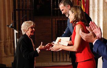 Concha Velasco en la entrega de los Premios Nacionales de Cultura.