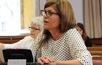 La senadora Asunción Sánchez Zaplana