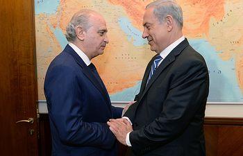 Jorge Fernández Díaz se reúne en Jerusalén con el primer ministro israelí, Benjamin Netanyahu. Foto: Ministerio del Interior