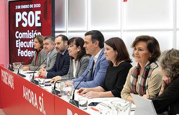 Reunión de la Ejecutiva Federal, encabezada por Pedro Sánchez. Foto: EVA ERCOLANESE