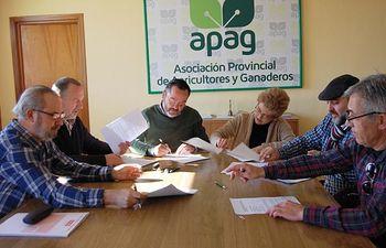 Firmado el Convenio Colectivo del Campo para la provincia de Guadalajara. Foto: ASAJA CLM.
