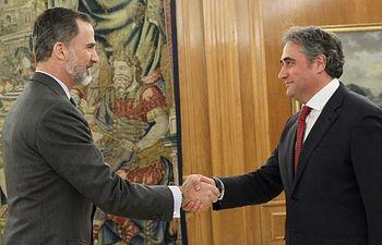 Ángel Mariscal y Felipe VI.