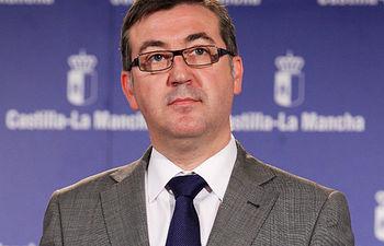 Marcial Marin en la rueda de prensa posterior al Consejo de Gobierno. Foto: JCCM.