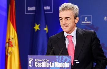 Leandro Esteban en rueda de prensa. Foto: JCCM.