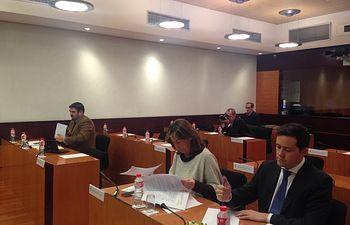 Guarinos y Velazquez en comisión en las Cortes de CLM