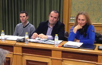 Los concejales de Cs Toni Calvo, Antonio Carrasco y María Jesús Amores.