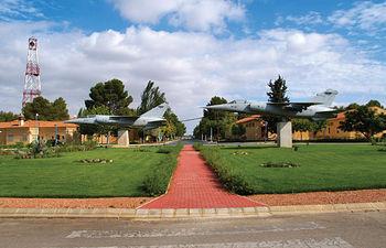 Vista de las instalaciones de la Base Aérea de Los Llanos.