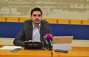 Santiago Serrano, viceportavoz del equipo de Gobierno. Ayuntamiento de Talavera de la Reina.