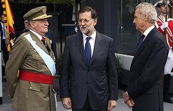 El presidente del Gobierno asiste al Día de la Fiesta Nacional. Foto: EFE.