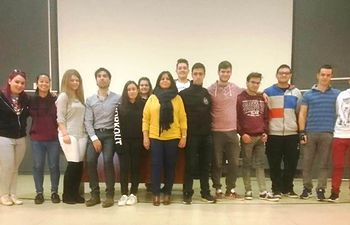 Alumnos Erasmus +.