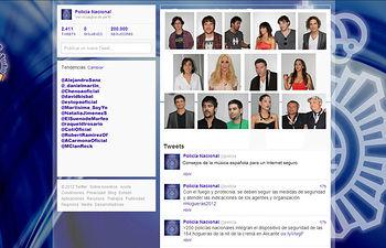 Campaña con la música española por la Seguridad en Internet. Foto: Ministerio del Interior