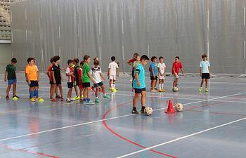 Integrantes del V Clinic de Fútbol Sala.
