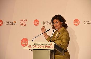 Carmen Calvo en Ciudad Real.