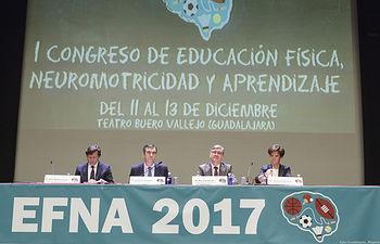 Acto de apertura del I Congreso Nacional de Educación Física, Neuromotricidad y Aprendizaje