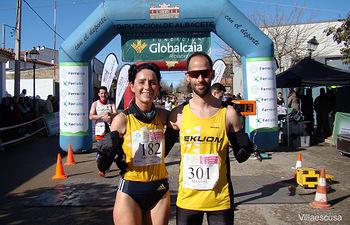 Magán y Gutiérrez repitieron triunfo en la Carrera Popular de El Bonillo.