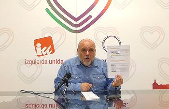 José María Fernández, portavoz del Grupo Municipal Izquierda Unida-Podemos.