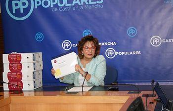 Carmen Riolobos, en rueda de prensa.