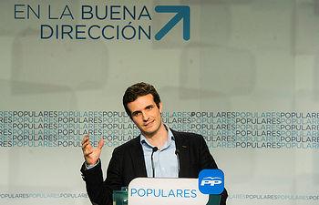 El portavoz de campaña para las elecciones municipales y autonómicas, Pablo Casado