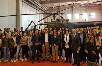 Magdalena Valerio visita el Centro Integrado de Formación Profesional de Aguas Nuevas, en Albacete
