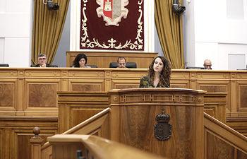 Diana López, portavoz de Educación del grupo parlamentario socialista en las Cortes de Castilla-La Mancha. Foto: CARMEN TOLDOS