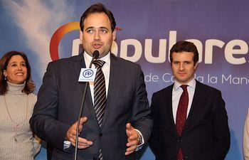Reunión de Pablo Casado con integrantes de la Mesa de la Caza en Ciudad Real.