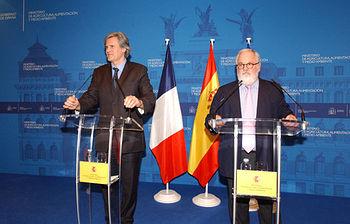 Miguel Arías Cañete y el ministro francés Stephane Le Foll (Foto Magrama)