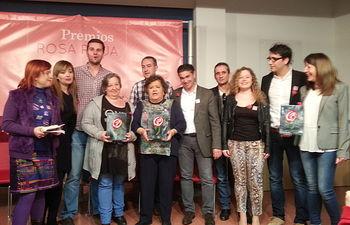 """González Ramos califica a los premiados con la Rosa Roja como un """"ejemplo de lucha contra las políticas regresivas de Rajoy y Cospedal"""""""