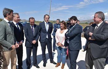 La consejera de Fomento, Agustina García Élez, asiste al acto con motivo del inicio de las obras de la Autovía Blanca-Fuente de la Higuera (A-33) en el tramo enlace N-344 con enlace A-31