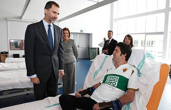 Reyes visitan Hospital Parapléjicos de Toledo - 10-02-15