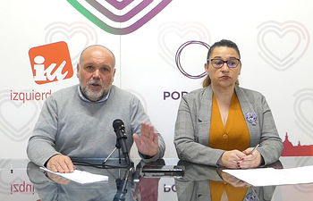 Rueda de prensa  IU- Podemos Toledo.