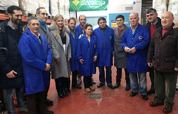 Visita al Banco de Alimentos de Cuenca. Foto: JCCM.