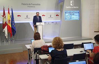 Jesús Fernández Sanz, consejero de Sanidad en funciones.