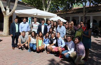 Encuentro con NNGG en la Feria de Albacete.
