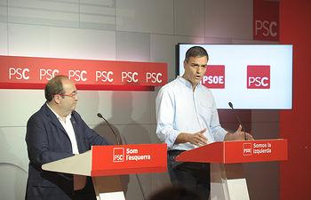 NOTA RUEDA PRENSA PEDRO SÁNCHEZ TRAS REUNIÓN EJECUTIVAS PSOE Y PSC