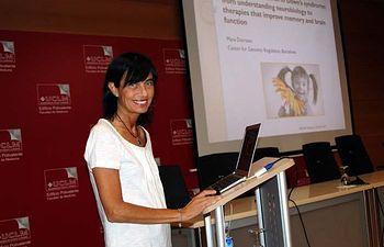 Mara Dierssen, poco antes de su intervención