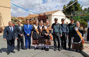 Santiago Cabañero acompaña a los vecinos de Pozo Lorente en sus fiestas en honor a la Santa Cruz