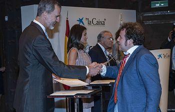 Álvaro López. Becas la Caixa.