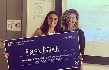 La estudiante albaceteña Teresa Aroca, ha ganado el prestigioso concurso internacional de discursos en inglés, EF CHALLENGE, organizado por EF Education First.