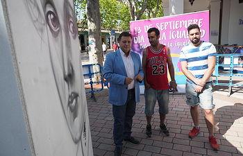 Exhibición de graffiti para conmemorar el día de la igualdad en la Feria.