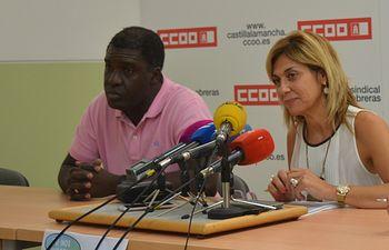 Foto archivo rueda de prensa CCOO AB con ACAIM .