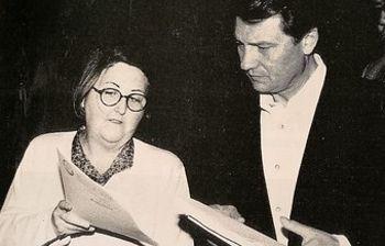 Lola Martínez con Antonio Gutiérrez, ex secretario General de CCOO.