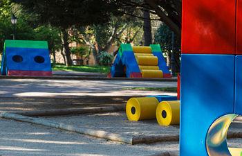 juegos infantiles en el parque de San Roque